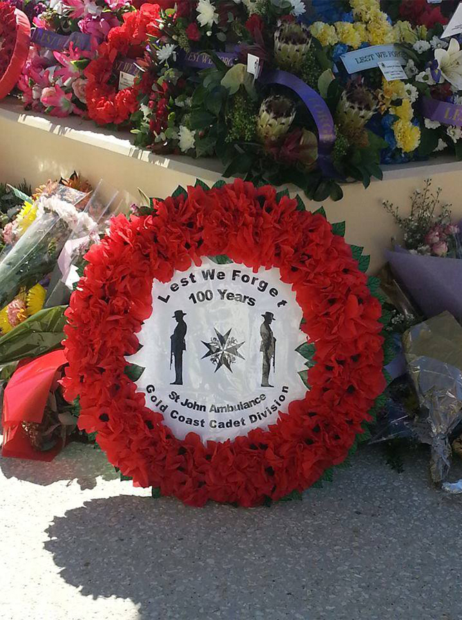 Anzac wreath 2015